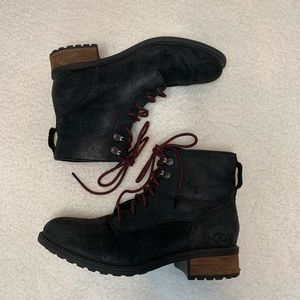 UGG Denhali Lace Up Water Resistant Leather Boot
